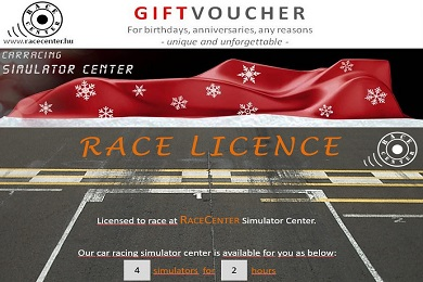 Gift vouchers for Christmas, birthday, just any time...